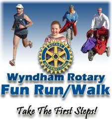 Wyndham Rotary Fun Run/Walk Logo